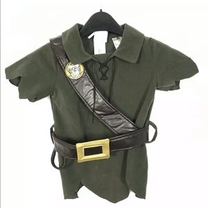 "Disney Peter Pan Costume ""Tunic Jacket And Boots"""